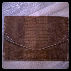 Rugby Crocodile Clutch in new condition